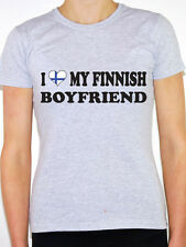 I LOVE MY FINNISH BOYFRIEND - Finland / Europe / Nordic Themed Womens T-Shirt