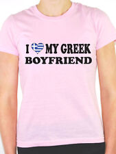 I LOVE MY GREEK BOYFRIEND - Greece / Europe / Novelty Themed Womens T-Shirt