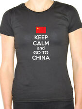 KEEP CALM AND GO TO CHINA - Chinese / East Asia / Fun Themed Womens T-Shirt