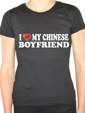 I LOVE MY CHINESE BOYFRIEND - China / East Asia / Novelty Themed Womens T-Shirt