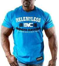 Monsta Clothing Mens Graphic T Bodybuilding Wear RELENTLESS BLUE TShirt Gym New