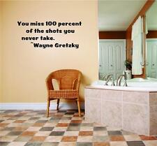 "Wayne Gretzky Large Wall Quote - Hockey Vinyl Decal / Sticker 13""x20"" [Q803]"