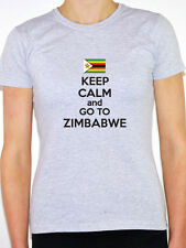 KEEP CALM AND GO TO ZIMBABWE - South Africa / Novelty Themed Women's T-Shirt