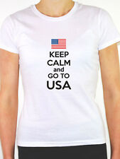KEEP CALM AND GO TO USA - America/Stateside/United States Themed Women's T-Shirt