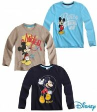 New Boys Disney Mickey Mouse Long Sleeve Top Mickey Mouse Top T-Shirt 2-8 Years