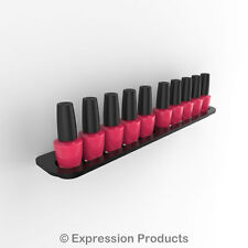 Nail Polish Display Holder, Wall Mount Nail Varnish Stand for 10 OPI Size Bottle