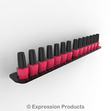 Nail Polish Display Holder, Wall Mount Nail Varnish Stand for 14 OPI Size Bottle