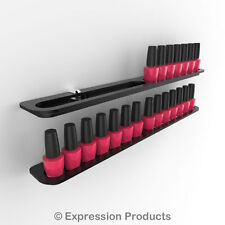 x2 Nail Polish Display Holders, Wall Mount Nail Varnish Stand for 28 Bottles