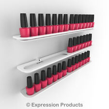 x3 Nail Polish Display Holders, Wall Mount Nail Varnish Stand for 42 Bottles