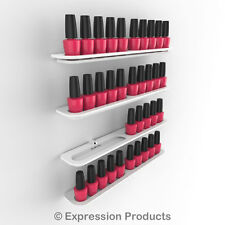 x4 Nail Polish Display Holders, Wall Mount Nail Varnish Stand for 40 Bottles