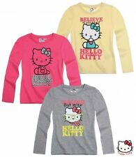New Girls Hello Kitty Long Sleeve Top Hello Kitty Shirt  Age 3-10 Years