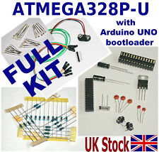 * FULL KIT * ATMEGA328P-PU AVR Preloaded with ARDUINO UNO bootloader Clone - UK