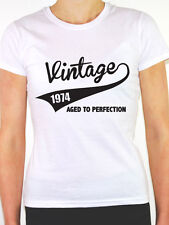 VINTAGE 1974 AGED TO PERFECTION -Birth Year/Birthday Gift Themed Women's T-Shirt