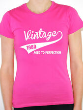 VINTAGE 1980 AGED TO PERFECTION -Birth Year/Birthday Gift Themed Women's T-Shirt