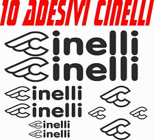 KIT 10 ADESIVI CINELLI BICI STICKERS CINELLI BIKE