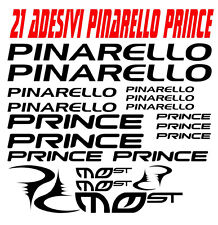 KIT 21 ADESIVI PINARELLO BICI STICKERS PINARELLO BIKE PRINCE