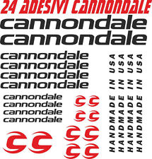 KIT 24 ADESIVI CANNONDALE BICI STICKERS CANNONDALE BIKE