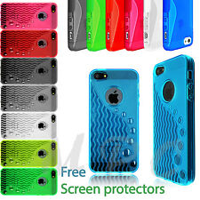Soft transparent TPU protective case cover for iPhone 5S 5G 5 FREE SCREEN GUARD