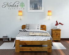 """*NODAX* Wooden Furniture Solid Pine Single 3ft Bed Frame """"ONE"""" Various Colour"""