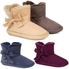 LADIES SLIPPER BOOTS WOMENS SLIPPERS WINTER THERMAL ANKLE BOOTIE WARM SHOES SIZE