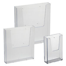 A4 A5 DL Leaflet Holder Wall Mount Brochure Dispenser Leaflet Stand WLD