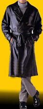 Mens Real Leather Double Breasted Trench Coat  Choice of Length & Size