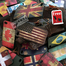 1xRetro National Flag Premium Hard case cover for iphone 5 5G 5S+ Anti-Dust Plug