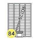 self adhesive sticky A4 PRINTER LABELS .84 LABELS PER SHEET