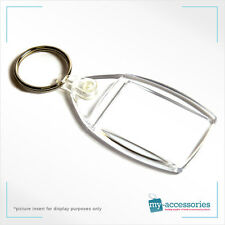 Blank Keyring Cheapest Thin Ring Printed Insert Logo/Photo - Plastic 35x24mm BF1