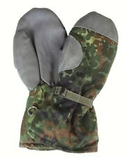German Army Issued Flecktarn Camo Gore Tex Mittens Mitts Military Gloves GRADE 1
