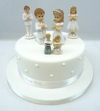 First Holy Communion Girl or Boy Cake Toppers,Or Diamante Cross and Ribbon Sets