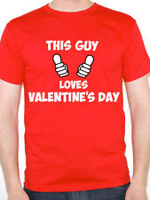 THIS GUY LOVES VALENTINE'S DAY - Love / Cupid / Novelty Themed Men's T-Shirt