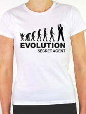 EVOLUTION SECRET AGENT - Spy / Covert / Espionage / Fun Themed Women's T-Shirt