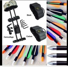 10 Fibreglass alloy Archery Arrows & Crossbow broadhead  &  Quiver Package