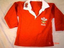 WELSH WALES CHILDS BABYS ADULTS RUGBY SHIRT CYMRU FEATHERS FULL SLEEVE ALL SIZES