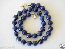 Blue Lapis Lazuli Necklace 10mm Lapis Beads 10 mm Hand Knotted Various Lengths