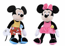 "NEW 12"" DISNEY PLUSH SOFT TOYS SUNSHINE MICKEY MOUSE MINNIE MOUSE SOFT TOY"