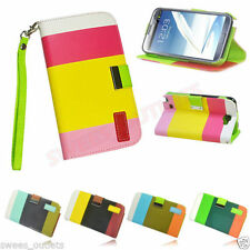 Samsung Galaxy Note 3 N9000 New Leather Flip Case Cover Pouch Designer Wallet