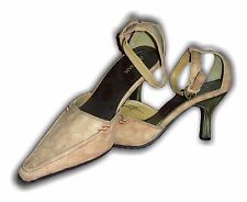 Ladies Girls Shoes Heel Pointed toe Beige Faux Suede L20445SM Size 3-8 Available