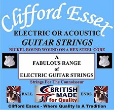 STRINGS - ELECTRIC GUITAR - TREMENDOUS RANGE - NICKEL WOUND ON A HEX STEEL CORE.