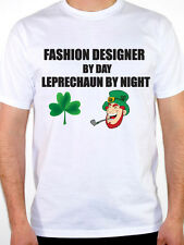 FASHION DESIGNER BY DAY LEPRECHAUN - Clothes / Fun / Novelty Themed Mens T-Shirt