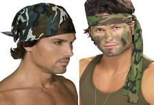 Army Headband Bandana Green Camouflage Military Land and Air Forces accessory