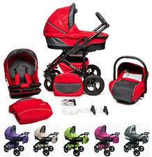 Pram Stroller buggy Pushchair poussette Qsport car seat swivel wheels