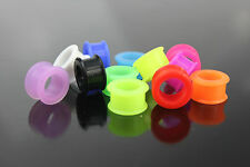DILATATORI LOBI FLESH TUNNEL SILICONE FLESSIBILI NEW MIX COLOUR PIERCING PLUG