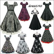 dress190 flügelärmel 50er 60er Rockabilly Vintage-Swing-Partei-Cocktail kleid