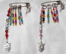 Personalised Knitting Crochet Stitch Markers Craft Bag Charm & 5 Stitch Markers