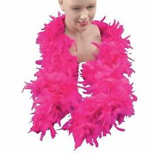 ADULT PINK FUSCHIA FEATHER BOA FANCY DRESS COSTUME ACCESSORY