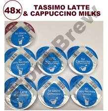 48x TASSIMO MILK CREAMER T-DISCS: COSTA & CARTE NOIRE LATTE & CAPPUCCINO: CHOOSE