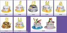 Cappello Peluche TORTA Compleanno Happy Birthday Party Compleanni Feste 18 25 60