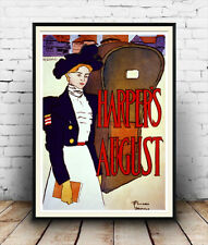 Harpers August :  Old 1930's magazine cover  Poster reproduction